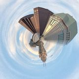 Columbus Ohio Pinwheel. Photo of Columbus, Ohio with pinwheel effect Royalty Free Stock Photos