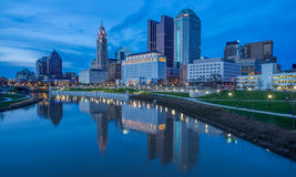 Columbus Ohio Skyline Foto de Stock Royalty Free