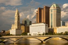 Columbus Ohio Skyline in the Afternoon Royalty Free Stock Photos