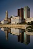 Columbus Ohio Skyline bij Zonsondergang Stock Foto
