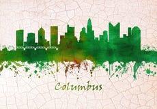 Columbus Ohio Skyline illustration stock