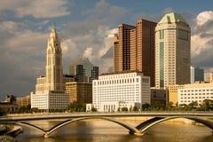 Columbus Ohio Skyline por la tarde Fotos de archivo libres de regalías