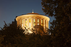 Columbus, Ohio - State Capitol Building. At night stock photography