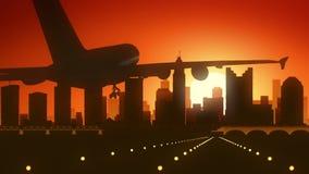 Columbus Ohio USA America Skyline Sunrise Landing stock images
