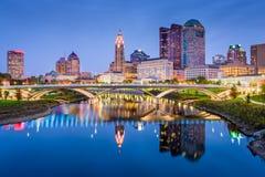 Columbus, Ohio, USA. Skyline on the Scioto River stock photography