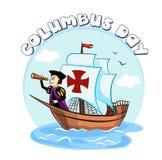 Columbus op het schip Stock Fotografie