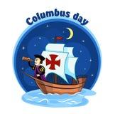Columbus op schip 2 Royalty-vrije Stock Foto