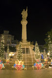 Columbus Plaza at Christmas Royalty Free Stock Images