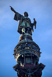 Columbus Pointing Statue Monument Barcelona Spain Royalty Free Stock Photos