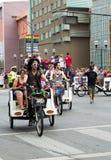 Columbus PRIDE parade bike taxi drivers Royalty Free Stock Photo
