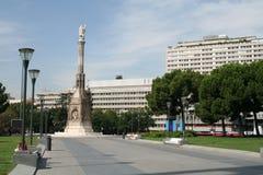 Columbus-Quadrat in Madrid Lizenzfreies Stockfoto