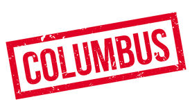 Columbus rubber stamp Stock Photo