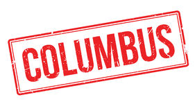Columbus rubber stamp Stock Images