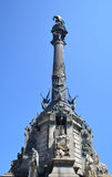 Columbus's Column in Barcelona. Royalty Free Stock Images