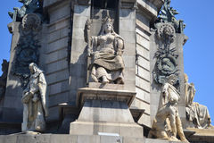 Columbus's Column in Barcelona. Stock Image