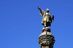 Columbus's Statue Royalty Free Stock Images