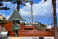 Columbus ship replica, La Palma island Royalty Free Stock Photo