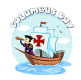 Columbus on the ship Stock Photography