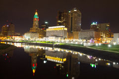 Columbus Skyline del centro Fotografia Stock Libera da Diritti