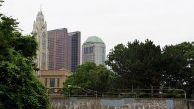 Columbus Skyline durch die Bäume Lizenzfreies Stockbild