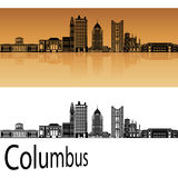Columbus skyline in orange Royalty Free Stock Photography