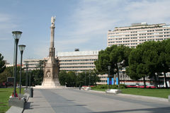 Columbus square in Madrid Royalty Free Stock Photo