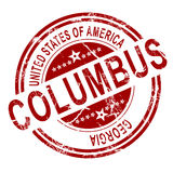 Columbus stamp with white background Royalty Free Stock Photo