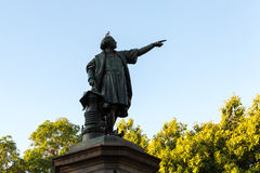 Columbus Statue at Colon Park in Santo Domingo, Dominican Republic Royalty Free Stock Photography
