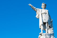 Columbus statue Royalty Free Stock Photography
