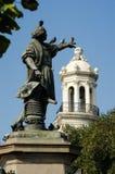 Columbus Statue på det Parque kolonet i Santo Domingo Arkivbild