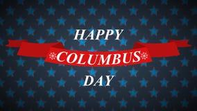 Columbus-Tagesvektorhintergrund mit Sternen und Band Stockbild