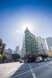 Columbus Tower Sentinel Building and Transamerica Pyramid Royalty Free Stock Photo