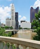 Columbus van de binnenstad Stock Foto