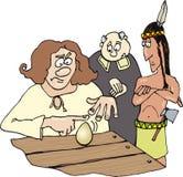 Columbus y huevo Imágenes de archivo libres de regalías