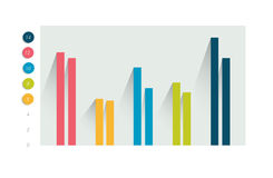 Colummn-Diagramm, Diagramm Einfach Farbe editable stock abbildung