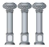 Column. Vector illustration of retro column vector illustration