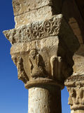 Column. Romanesque column and capital in a romanesque church in soria (spain Royalty Free Stock Photography