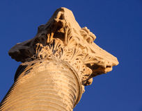 Column. Ruins of ancient greek roman city. Unhurt column Stock Image