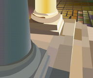 Column. Vectorial image of a stone column of ancient temple royalty free illustration