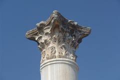 Column. A Roman Corinthian column capital in Salamis, North Cyprus Royalty Free Stock Photos