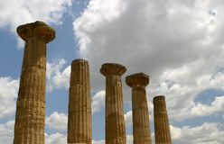 Column. Of saturn in vallay of temples,agrigento-sicily royalty free stock photo
