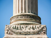 Column. Beautiful old column - close up Stock Images