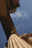 Column. S at the Palace of Fine Arts in San Francisco, CA royalty free stock photo