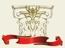 Column. Design of a vector background in vintage style Royalty Free Stock Image