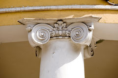 Column. Greek pattern style top column Royalty Free Stock Photos