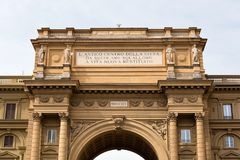 Column of Abundance, Florence. Ancient Roman gate in Florence Royalty Free Stock Photography