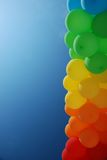 Column of air balloons on sky background Royalty Free Stock Image