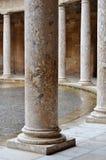 Column Alhambra amphitheatre. Taken in the castle of Alhambra, Granada, Spain Stock Photography