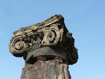 Column at the ancient Roman city of Pompeii Stock Photo
