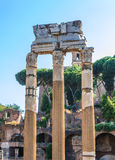 Column ancient ruins in Rome Stock Images